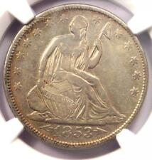 1853 Arrows & Rays Seated Liberty Half Dollar 50C - Certified NGC XF Details!