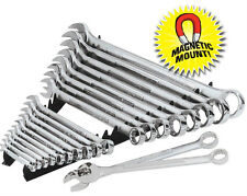 ERNST 6013M Black 20 Tool Wrench Organizer Rail Set with Magnetic Backing