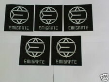 5 PROMO-AUFKLEBER  EMIGRATE (RICHARD KRUSPE/RAMMSTEIN)