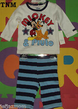 :-)**DISNEY STORE ORGANIC MICKEY & PLUTO 2PC LONG-SLEEVED TOP AND PANTS SET**