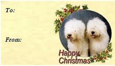 Old English Sheepdog Christmas Labels by Starprint