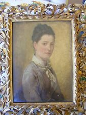1873 OIL PAINTING PORTRAIT SIGNED PERRODIN
