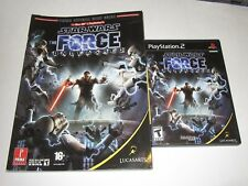 Star Wars: The Force Unleashed (Sony PlayStation 2, 2008) w/ Official Game Guide