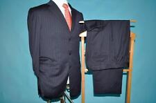 Ermenegildo Zegna Black Label 40 R navy blue pinstripe 100% wool suit (a#5w8