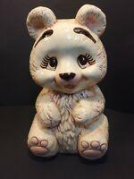 Handmade Female Girl Bear Piggy Bank - No Markings