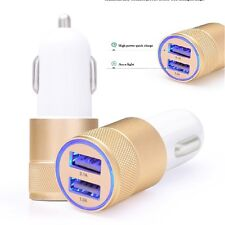Car Charger 3.1A Double LED USB Alloy Universal Fast Charging iphone 7,6,5 new