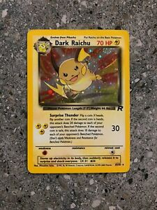 Pokemon TCG Cards Dark Raichu 83/82 Team Rocket Secret Rare Holo PLAYED