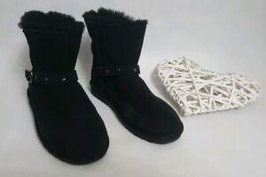 Kirkland Black Sheepskin Boots Size UK 4 EU  37 ⭐AUTHENTIC⭐