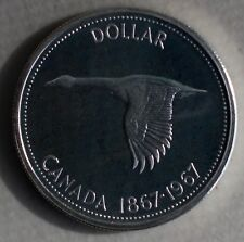 1967 Canada Silver Dollar Flying Goose Proof Coin Commemorative $1 80% Silver M4