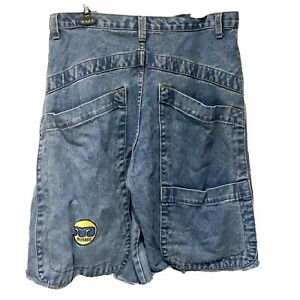 Baggy 90s / Noughties MENACE USA Jeans / Cutoff Shorts    Wide Leg    34