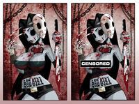 🔥 SAD GIRL PSYCHO BABY #1 DAN MENDOZA 11x17 ART PRINT SET ZOMBIE TRAMP HTF RARE