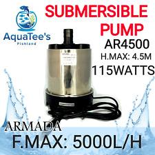 ARMADA AR-4500 SUBMERSIBLE POND/AQUARIUM WATER PUMP 5000L/H MARINE/AQUA FOUNTAIN