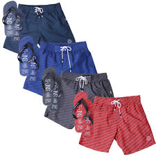 Smith & Jones Mens Bayron Swim Shorts Beach Sport Trunks With Free Flip Flops