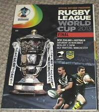 RUGBY LEAGUE MAGAZINE World Cup 2013 Final includes 2 used tickets