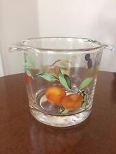 "Royal Worcester England ~5"" Tall Evesham Glass  Ice Bucket Glassware"