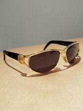 Vintage Laura Biagiotti Gold and black Sunglasses Eyeglasses.