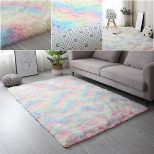 Hochflor Teppich Shaggy Plüsch Bettvorleger Wohnzimmer Schlafzimmer Sofa Matte