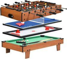 4in 1 Multifunktionsspieltisch Billardtisch&Tischtennis&Air Hockey&Tischkicker