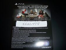 For Honor Legacy Battle Pack Code DLC Download PS4 Playstation 4