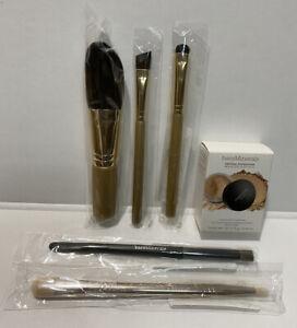 5 Bare Minerals Makeup Brushes Travel Size Foundation Medium Beige 12