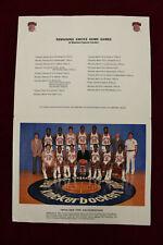 1983/84 New York Knicks Team Photo Schedule Madison Squre Garden Barnard King