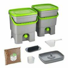 Skaza Bokashi Organico 2 Large Waste Bins with active EM Bran Indoor Composter