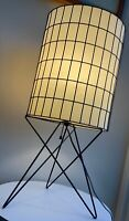 Nice Vintage Frederic Weinberg Wire Cage Matrix Table Lamp Mid Century Modern