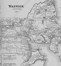 Warwick Harris Centerville Cowesett RI 1870 Maps with Homeowners Names Shown