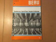 Beru Katalog Zündkerzen von 1973  Katalog gebraucht für Oldtimer