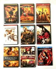 9 Movie Action DVD Lot Mummy Troy 300 Catching Fire Pirates Caribbean Alexander