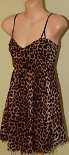 Womens Animal Print Fray Dress - One Teaspoon - Size 8