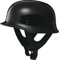 Fly Racing 9MM Half Helmet Solid Colors Black F73-8220~8 4X