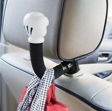 Universal Car Seat Headrest Arm Hanger Hook for Bag Umbrella Cloth Mickey Mouse