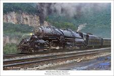 "Norfolk & Western Class Y6a Railroad Art Print, Size 16"" x 24"""