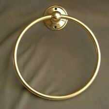 BRASS TOWEL HOLDER/ RAIL / RING, IDEAL BATHROOM, CLOAKROOM, EN SUITE / KITCHEN