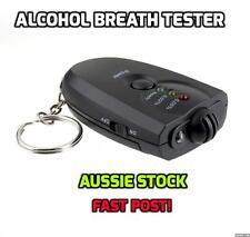 Portable Keychain Digital LED Alcohol Breath Tester Breathalyzer with FlashLight