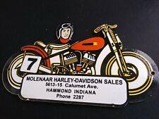 Vintage Harley Davidson Dealership Porcelain Sign