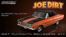"GREENLIGHT 1/18 PLYMOUTH BELVEDERE GTX 1967  ""JOEDIRT Limited Edition"" 19006"