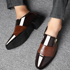 Fashion Mens Italian Wedding Party Slip On Leather Formal Office Smart Shoes AU