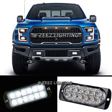 1X 12 LED White Emergency Hazard Warning Flash Strobe Beacon Caution Light Bar94