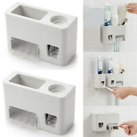 UK Multifunctional Toothbrush Holder Toothpaste Dispenser Automatic Squeezer