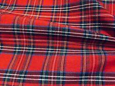 Rojo Tartán de Cuadros Tela de Diseño Escocés Royal Stewart -140cm Ancho Lienzo