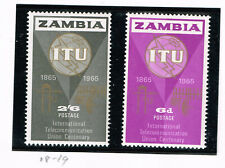 Zambia Communication Equipment ITU set 1965 MNH