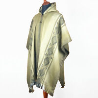 LIGHT BABY ALPACA WOOL CAPE PONCHO WRAP SHAWL COAT HANDMADE IN ECUADOR