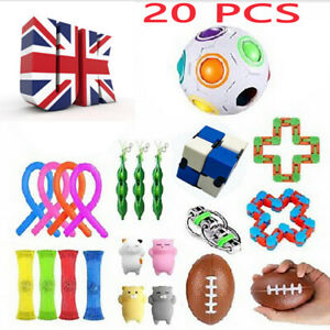 20 Pack Fidget Toy Set Sensory Tools Bundle Stress Relief Hand Kids Adult uk1
