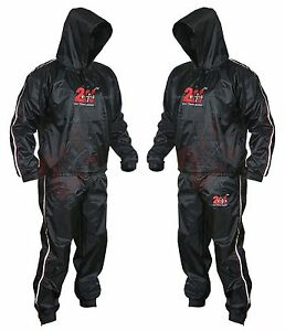 Heavy Duty Sweat Suit Sauna Exercise Gym Suit Fitness Weight Loss Anti-Rip XS-9X