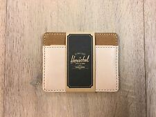 *NIP* HERSCHEL Supply Co. CHARLIE Leather / Canvas Wallet NATURAL / CARAMEL