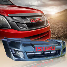 GLOSS BLACK FRONT GRILLE GRILL CARBON LOGO FOR ISUZU D-MAX DMAX 2012 2013 2014