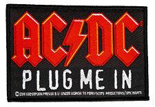 AC/DC Plug me In Aufnäher AC/DC Patch Gewebt & Lizenziert !! SP3072