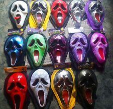 GHOSTFACE / SCREAM Plastic Masks X14 - Unique Collection Of Colours - V RARE!!